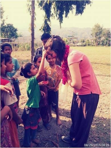 Séisme, Amélie et les enfants